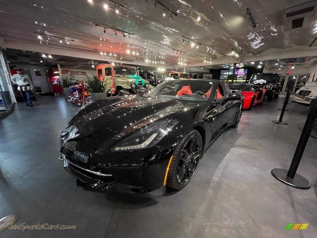 2016 Corvette Stingray Coupe - Black / Adrenaline Red photo #1