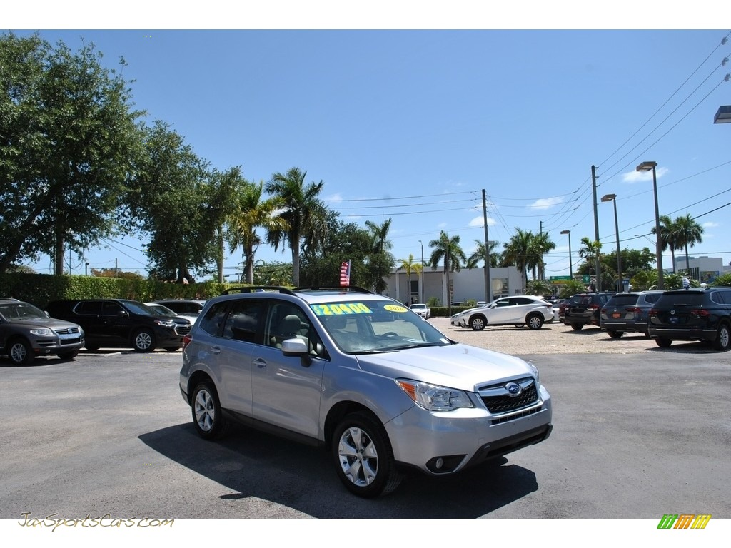 2016 Forester 2.5i Limited - Ice Silver Metallic / Black photo #1