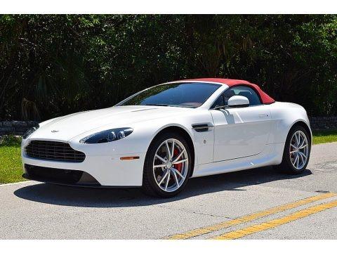 Stratus White 2012 Aston Martin V8 Vantage Roadster