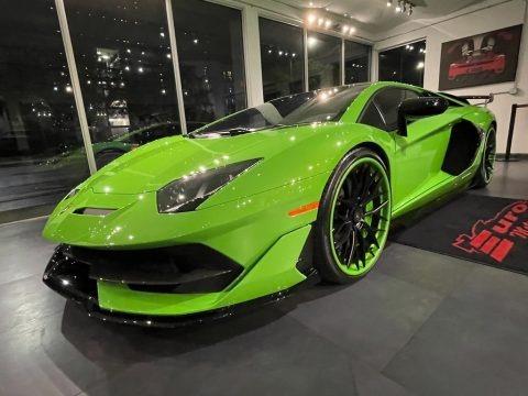 Verde Mantis 2020 Lamborghini Aventador SVJ LP770-4 Coupe