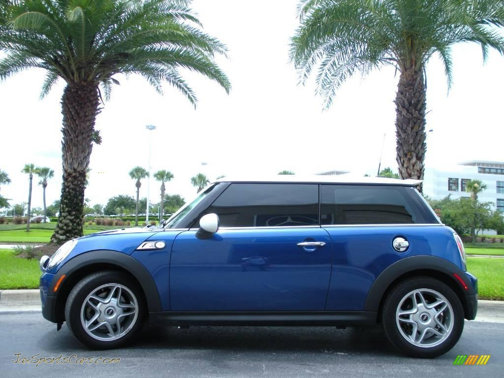 mini cooper  hardtop  lightning blue metallic  jax sports cars cars  sale