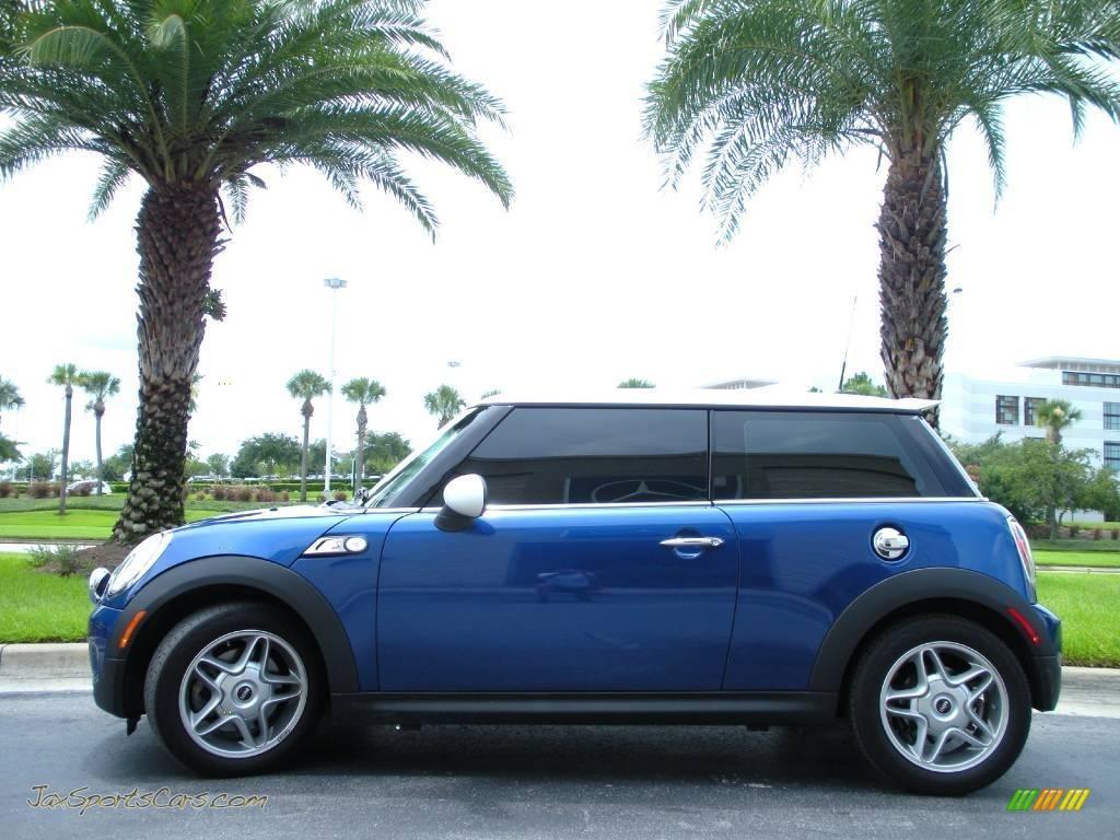 2007 mini cooper s hardtop in lightning blue metallic v31857 jax sports cars cars for sale. Black Bedroom Furniture Sets. Home Design Ideas