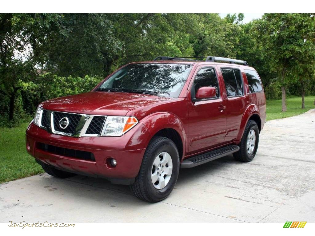 2006 Nissan Pathfinder Se 4x4 In Red Brawn Pearl 625365 Jax Sports Cars Cars For Sale In