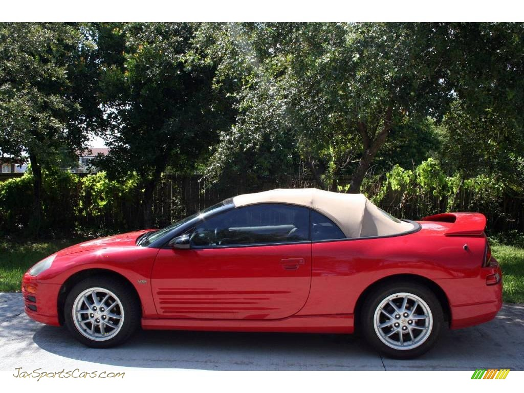 2001 Eclipse Spyder GT - Saronno Red / Tan photo #5