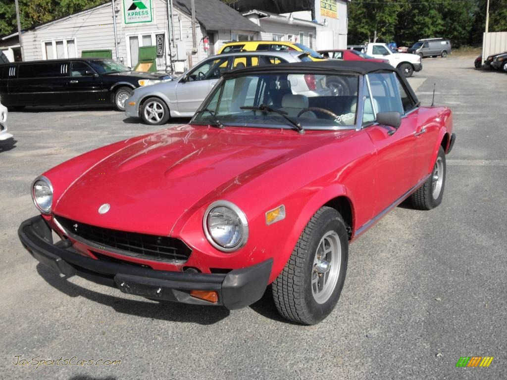 1968 fiat 124 spider convertible in red photo 2 008126 jax sports cars cars for sale in. Black Bedroom Furniture Sets. Home Design Ideas
