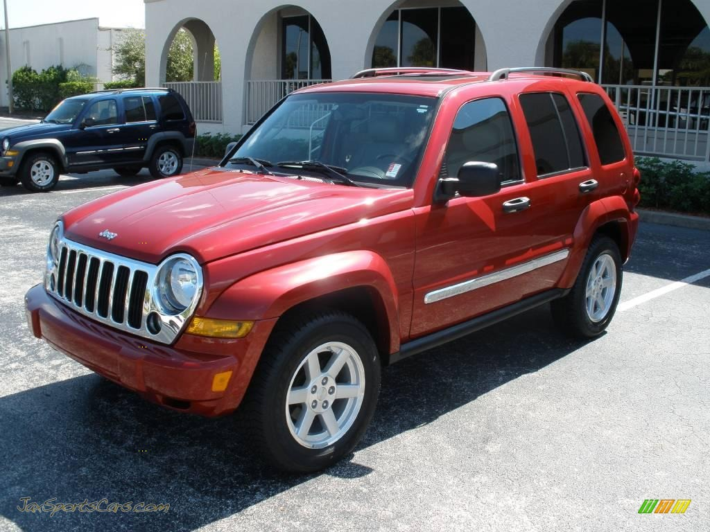 2007 Jeep Liberty Limited In Inferno Red Crystal Pearl