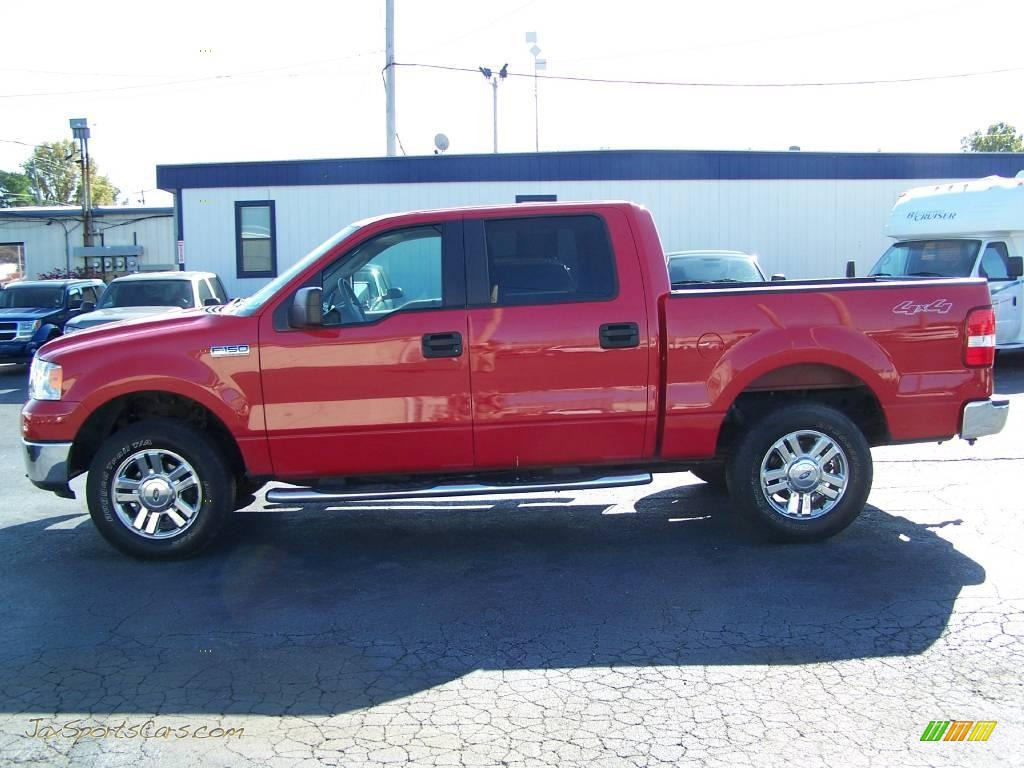 2007 Ford F150 Xlt Supercrew 4x4 In Bright Red Photo 5