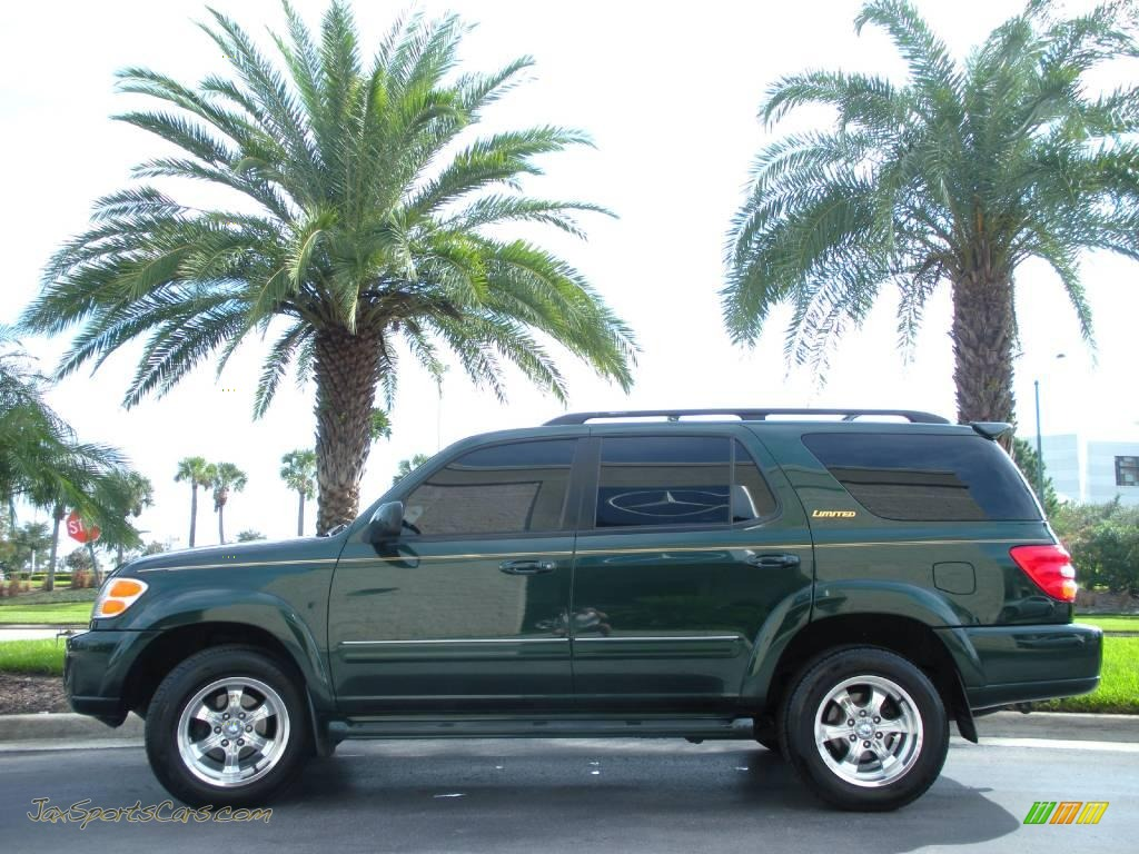 2002 Toyota Sequoia Limited In Imperial Jade Green Mica
