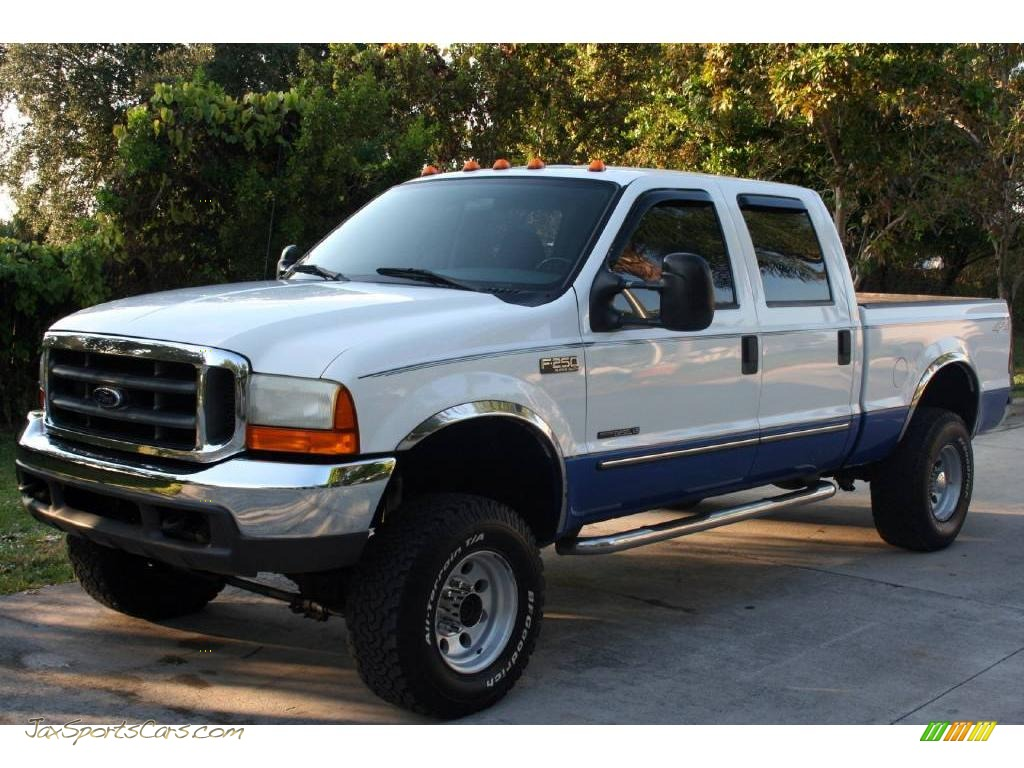 2000 Ford F250 Super Duty Xlt Crew Cab 4x4 In Oxford White