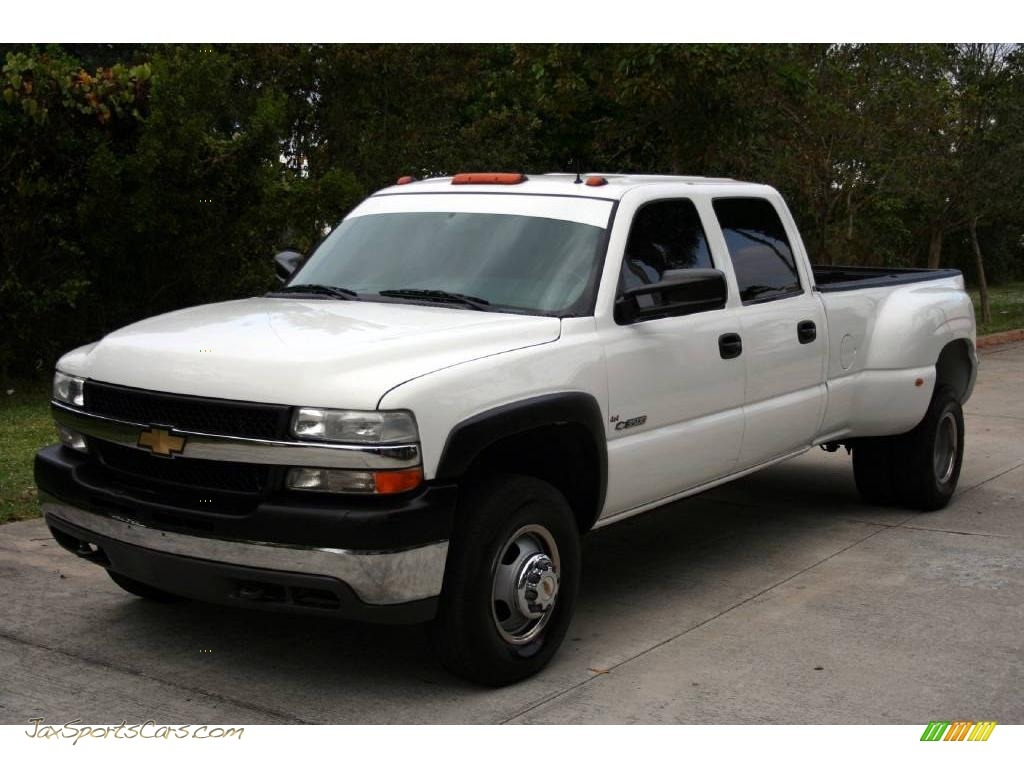 Summit white graphite chevrolet silverado 3500 lt crew cab 4x4 dually