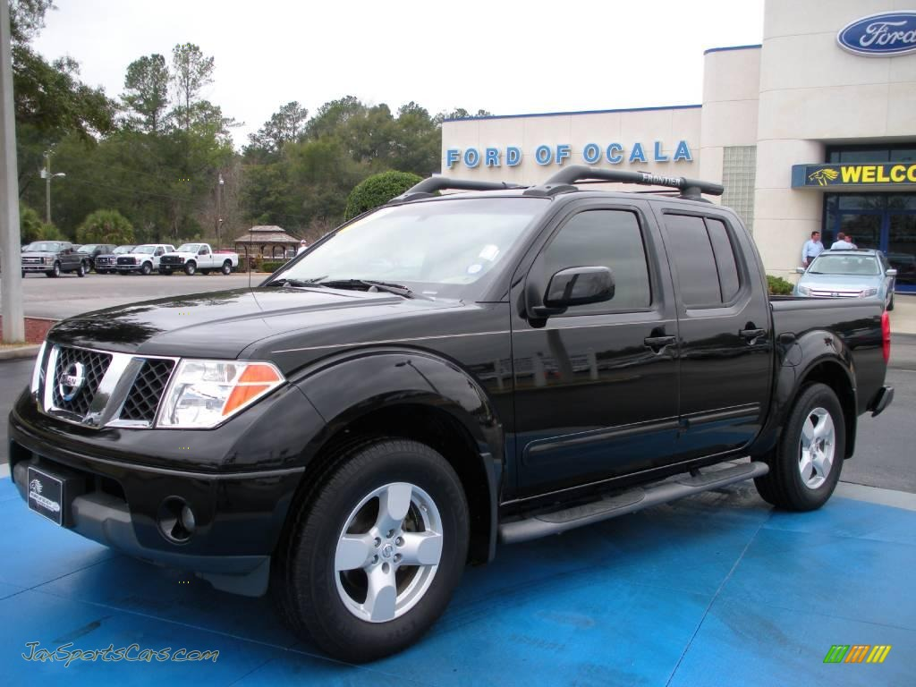 2005 nissan frontier le crew cab in super black 447935 jax sports cars cars for sale in. Black Bedroom Furniture Sets. Home Design Ideas