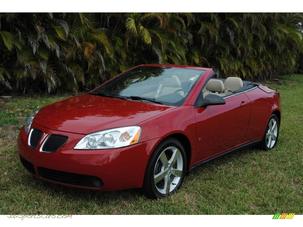 2007 pontiac g6 gt convertible in crimson red 131194 jax sports cars cars for sale in florida. Black Bedroom Furniture Sets. Home Design Ideas