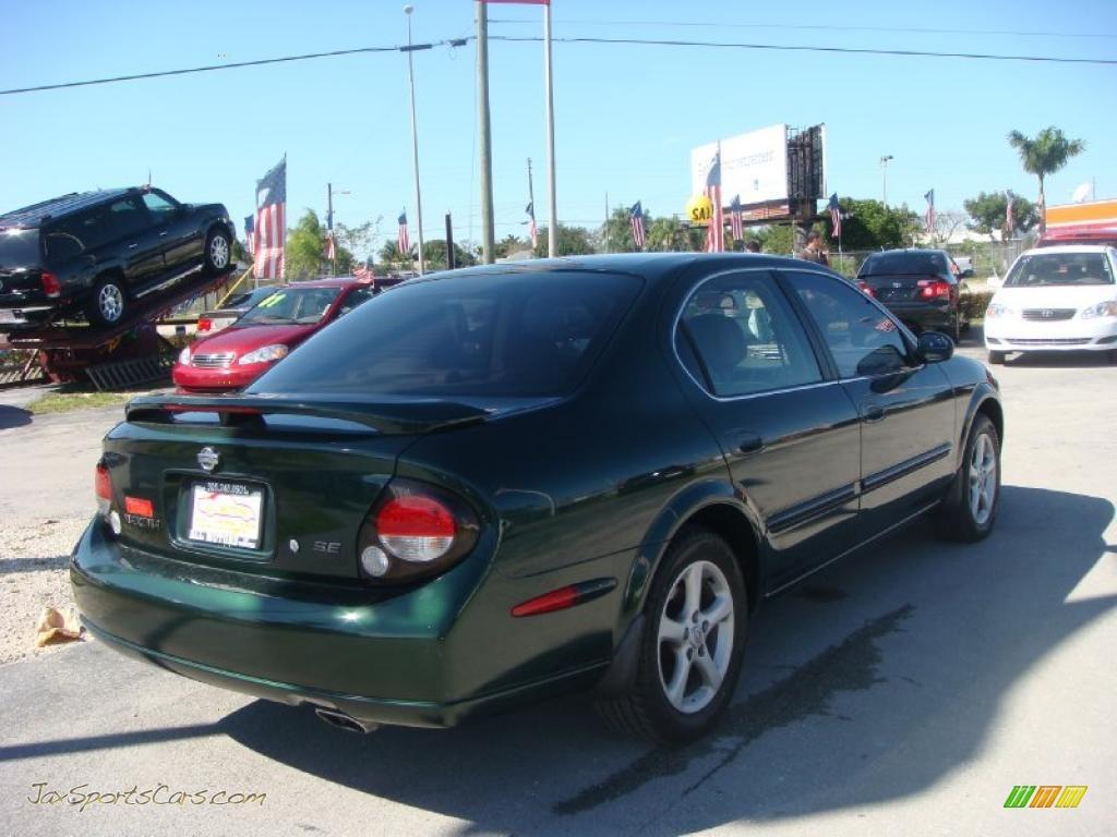 2000 Nissan Maxima SE In Sherwood Green Metallic Photo #3