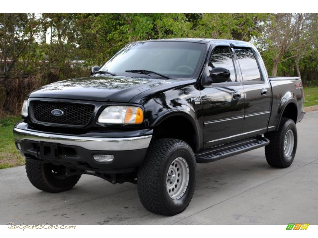 2003 Ford F150 Xlt Supercrew 4x4 In Black Photo 4