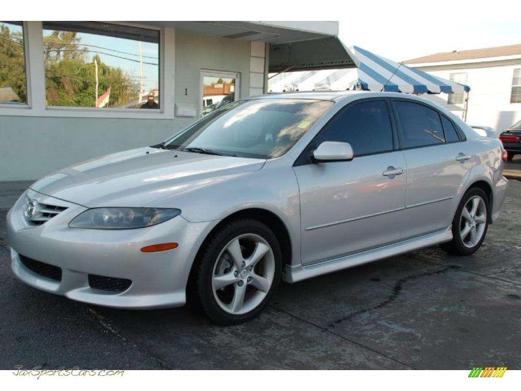2005 mazda mazda6 i sport hatchback in glacier silver metallic m12737 jax sports cars cars. Black Bedroom Furniture Sets. Home Design Ideas