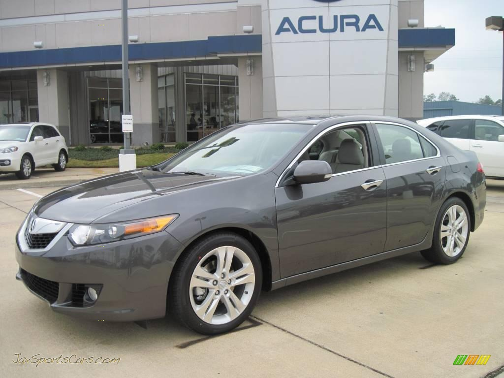 2010 Acura Tsx V6 Sedan In Polished Metal Metallic 002525 Jax Sports Cars Cars For Sale In