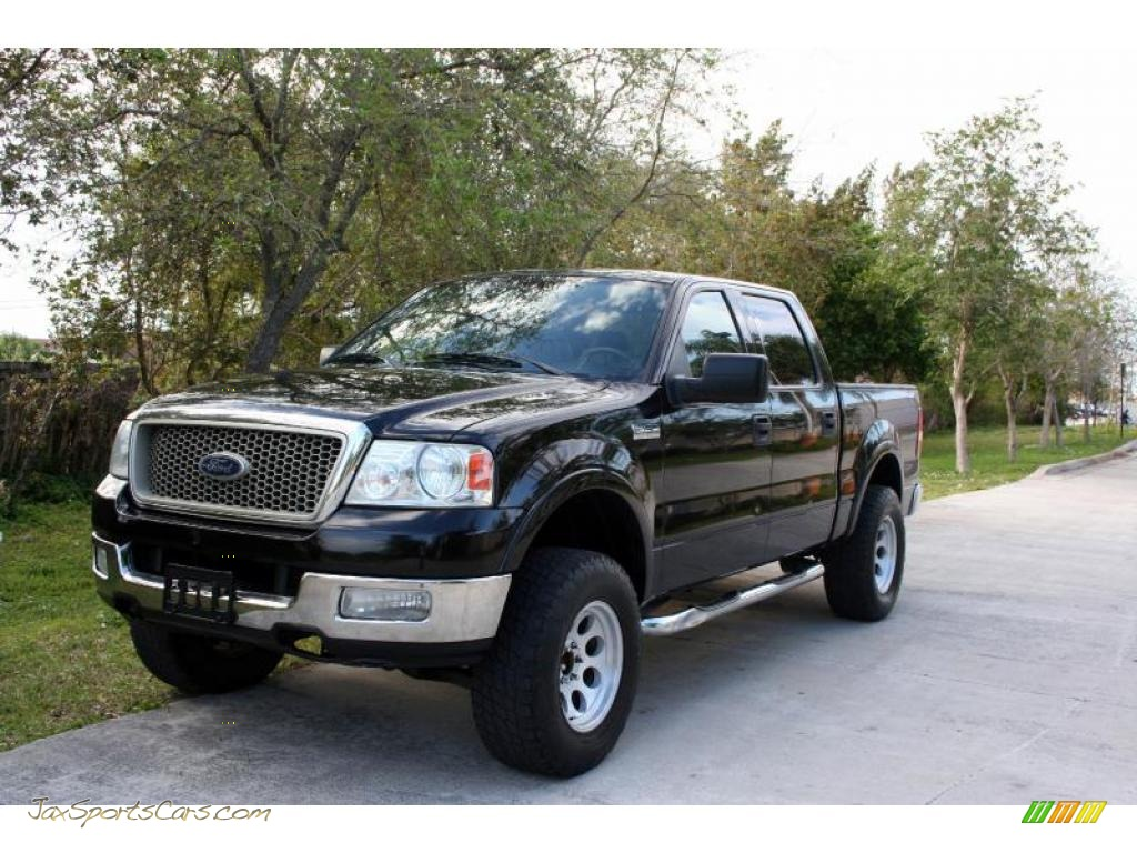 2004 ford f150 lariat supercrew 4x4 in black c97920. Black Bedroom Furniture Sets. Home Design Ideas