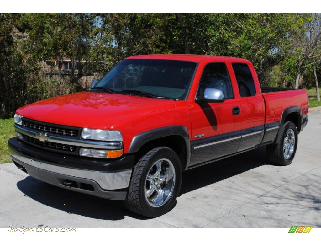 2000 chevrolet silverado 1500 ls extended cab 4x4 in victory red 341556 jax sports cars. Black Bedroom Furniture Sets. Home Design Ideas