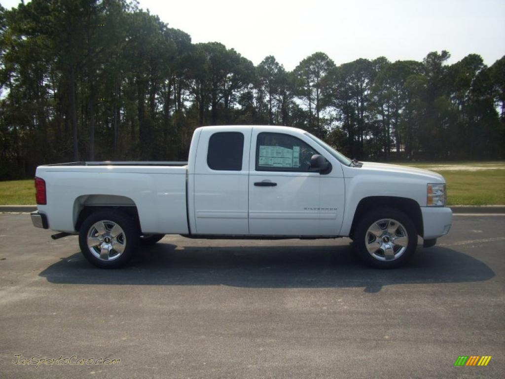 2010 chevrolet silverado 1500 lt extended cab in summit white 125046 jax sports cars cars. Black Bedroom Furniture Sets. Home Design Ideas