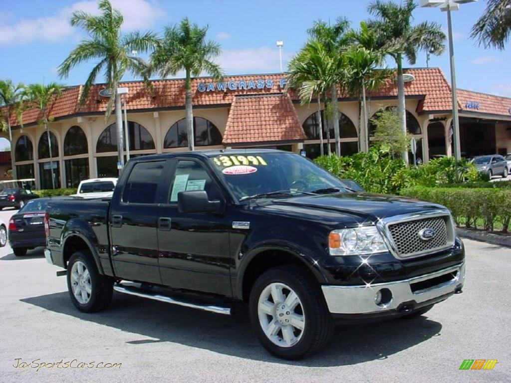 2008 ford f150 lariat supercrew 4x4 in black b22057 jax sports cars cars for sale in florida. Black Bedroom Furniture Sets. Home Design Ideas