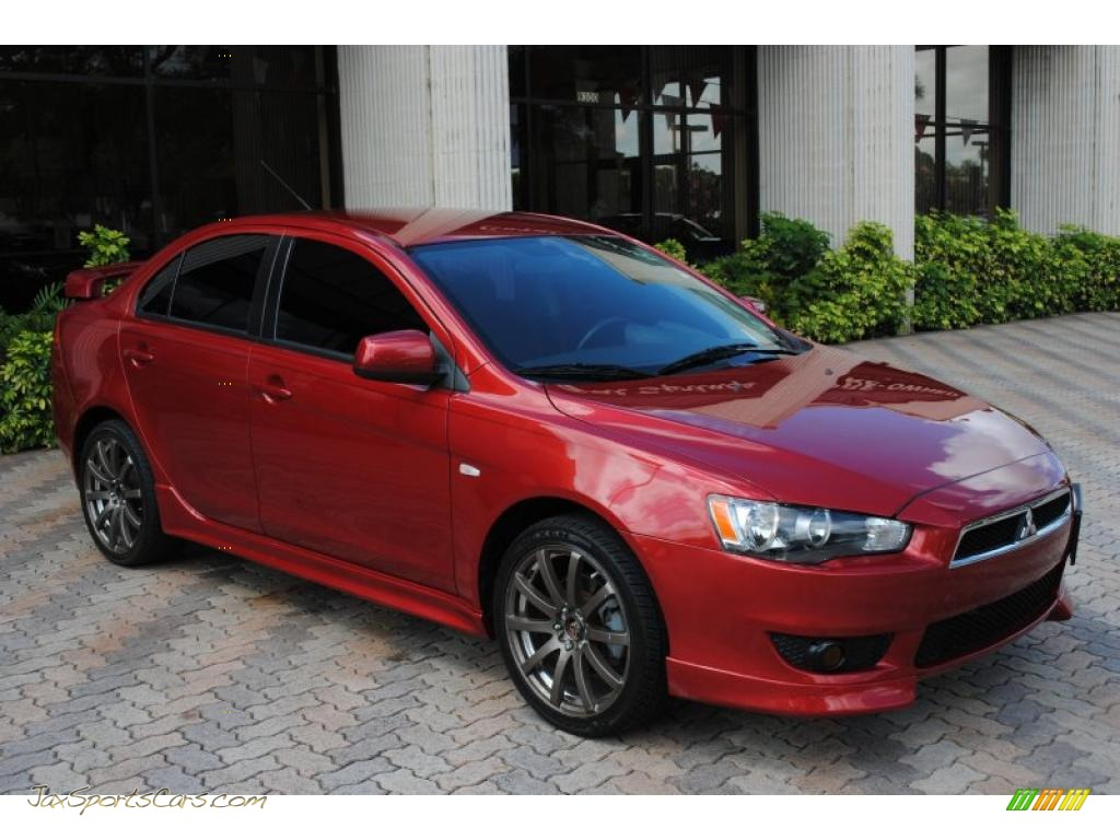 2008 mitsubishi lancer gts in rally red pearl photo 3 010937 jax sports cars cars for. Black Bedroom Furniture Sets. Home Design Ideas