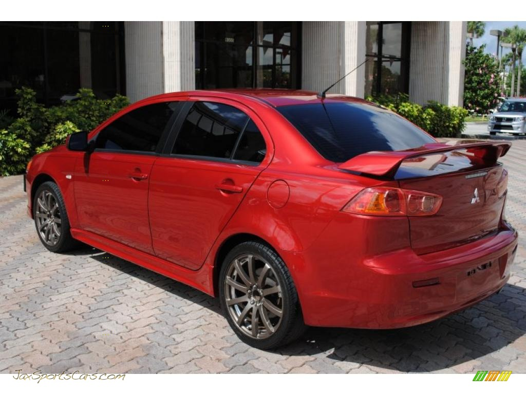 2008 mitsubishi lancer gts in rally red pearl photo 5 010937 jax sports cars cars for. Black Bedroom Furniture Sets. Home Design Ideas