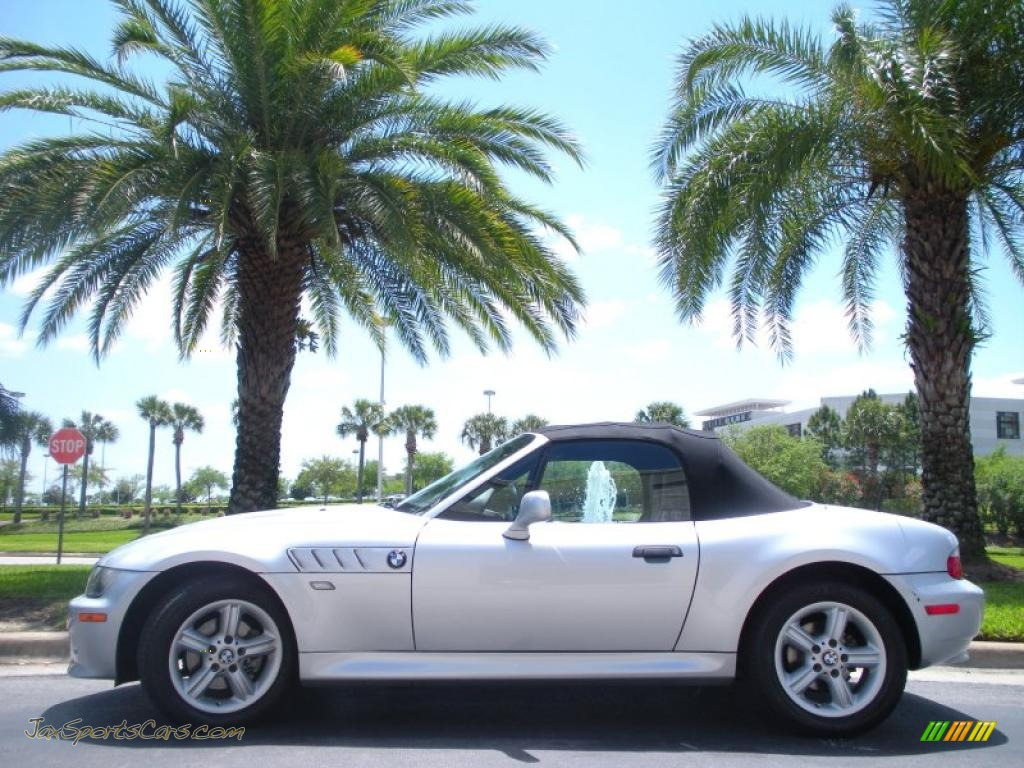 2001 bmw z3 roadster in titanium silver metallic m04146 jax sports cars cars for sale. Black Bedroom Furniture Sets. Home Design Ideas