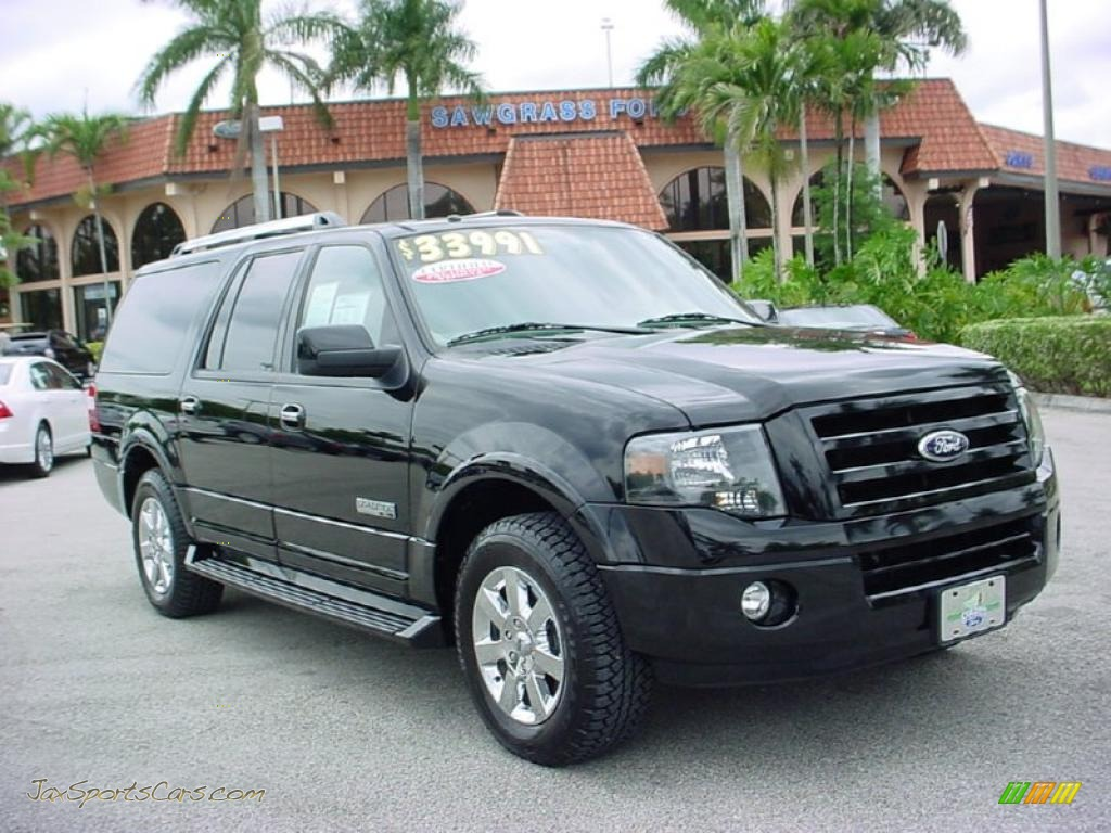 2007 ford expedition el limited in black a62220 jax sports cars cars for sale in florida. Black Bedroom Furniture Sets. Home Design Ideas
