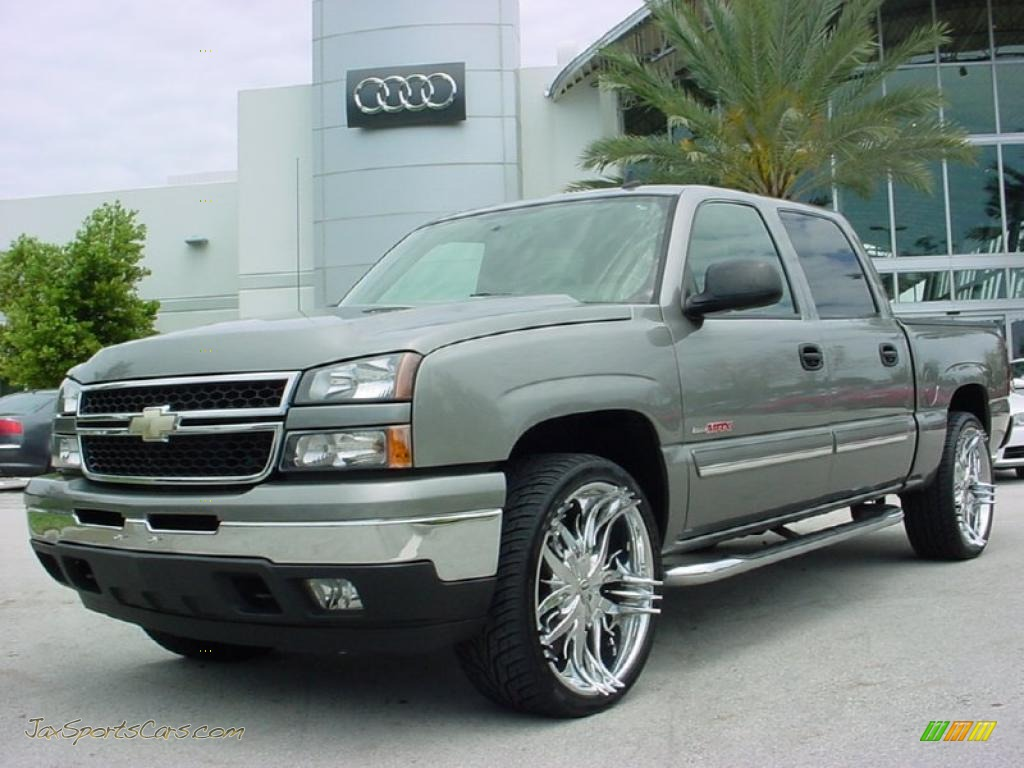 2006 chevrolet silverado 1500 ls crew cab 4x4 in graystone metallic 188372 jax sports cars. Black Bedroom Furniture Sets. Home Design Ideas