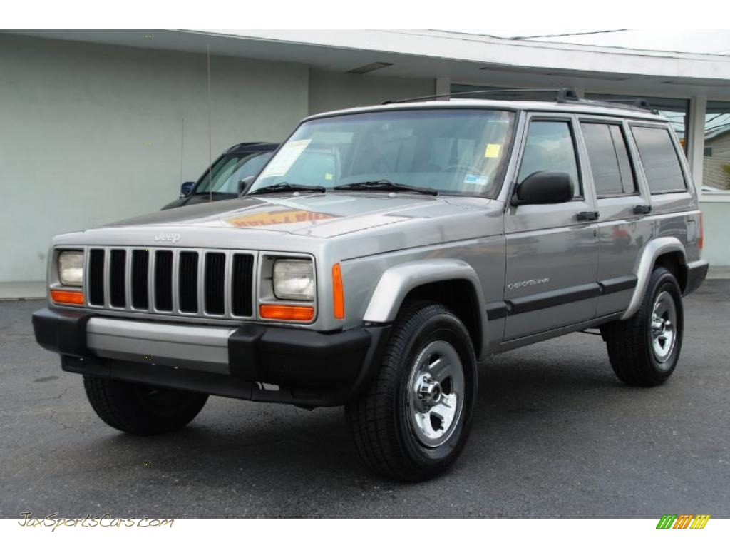 2000 jeep cherokee sport 4x4 in silverstone metallic photo. Black Bedroom Furniture Sets. Home Design Ideas