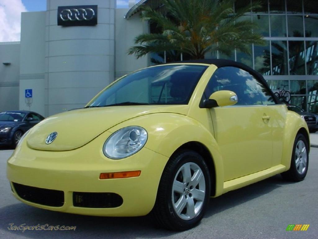 2007 Volkswagen New Beetle 2 5 Convertible In Sunflower