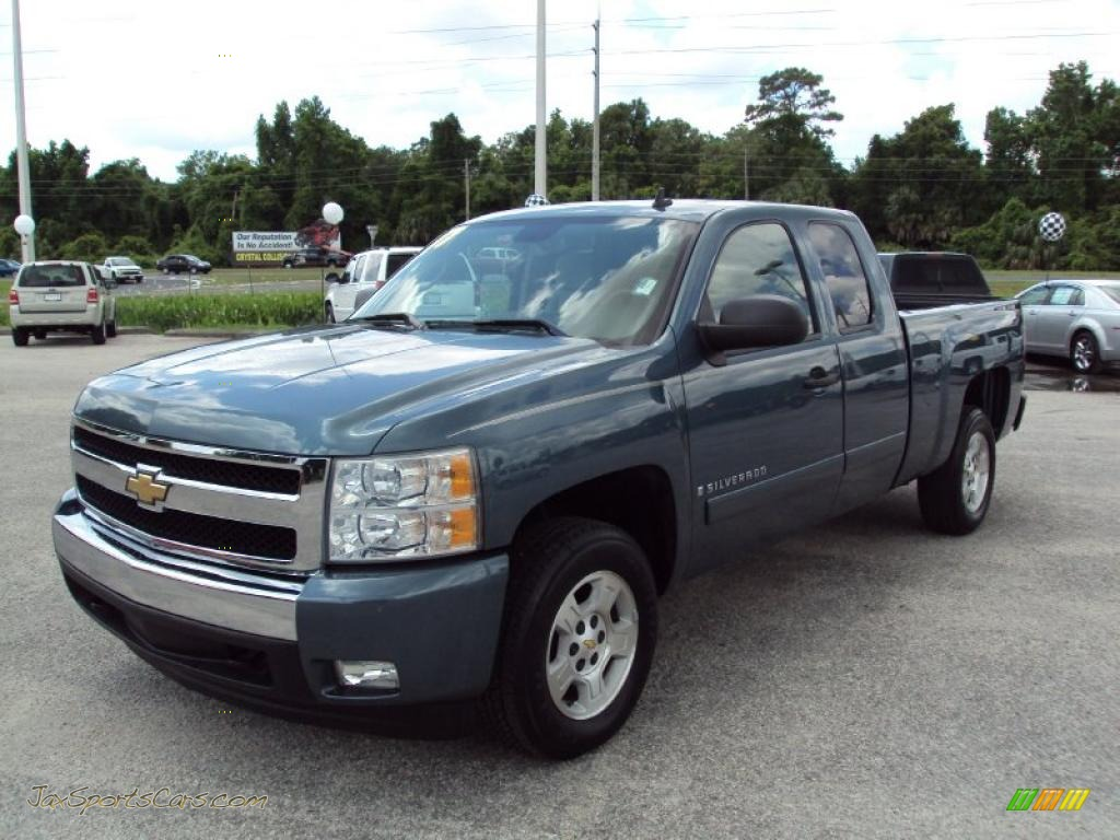 2007 chevrolet silverado 1500 lt extended cab in blue granite metallic 637177 jax sports. Black Bedroom Furniture Sets. Home Design Ideas