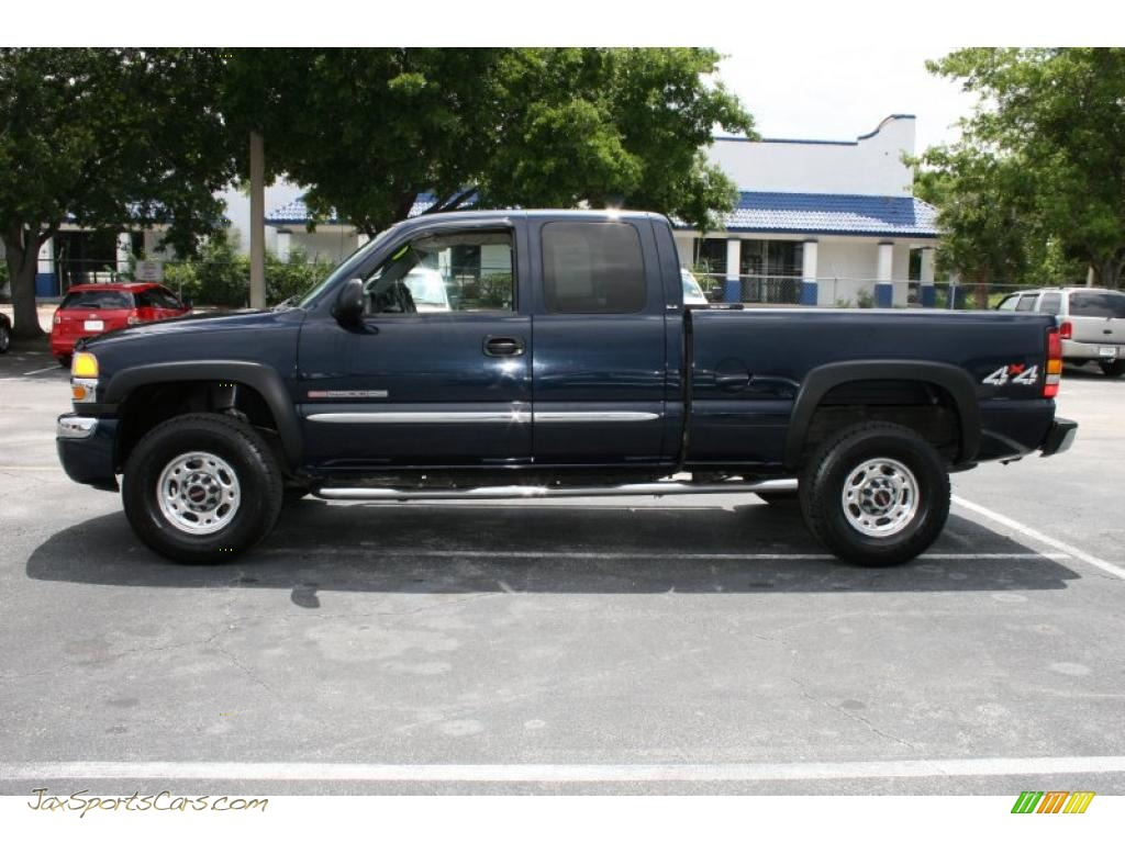 2005 gmc sierra 2500hd sle extended cab 4x4 in deep blue metallic photo 8 203334 jax sports. Black Bedroom Furniture Sets. Home Design Ideas