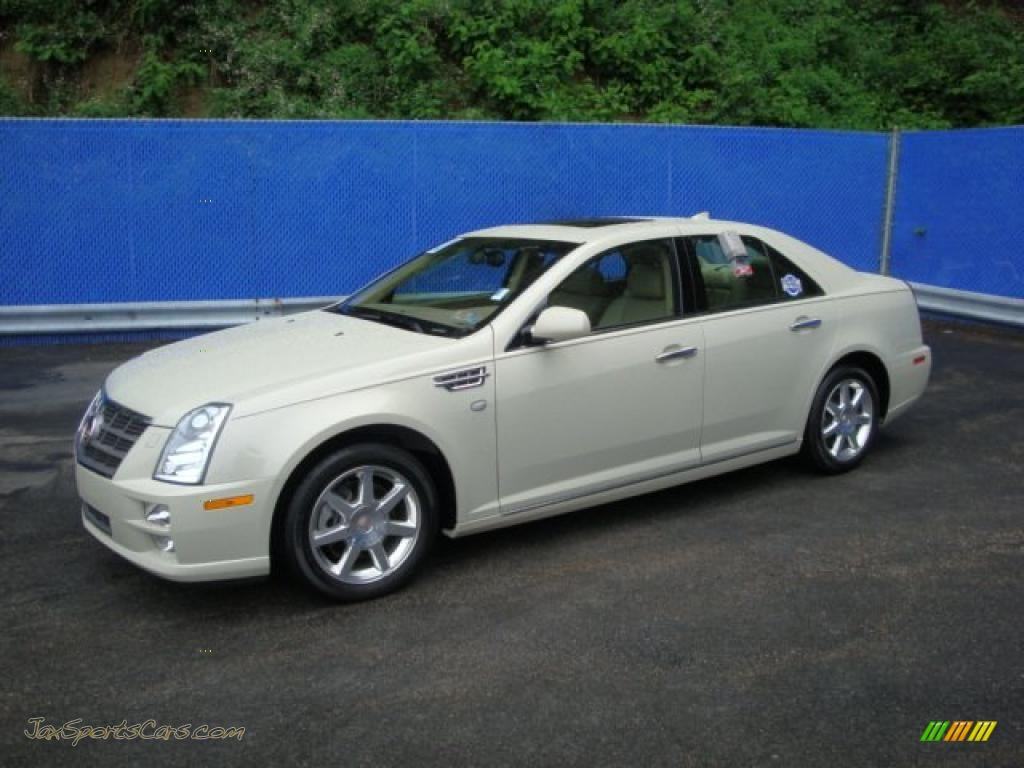 2010 Cadillac Sts 4 V6 Awd In White Diamond Tricoat