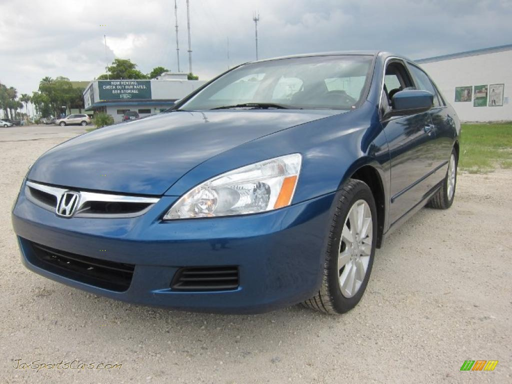 2006 honda accord ex l v6 sedan in sapphire blue pearl 009201 jax sports cars cars for. Black Bedroom Furniture Sets. Home Design Ideas