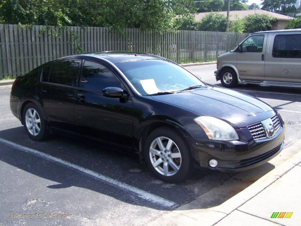 2005 nissan maxima 3 5 sl in onyx black 856998 jax sports cars cars for sale in florida. Black Bedroom Furniture Sets. Home Design Ideas