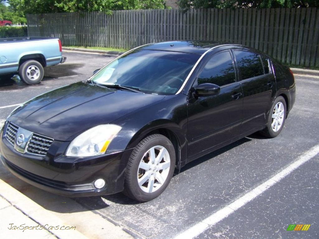 2005 nissan maxima 3 5 sl in onyx black photo 3 856998. Black Bedroom Furniture Sets. Home Design Ideas