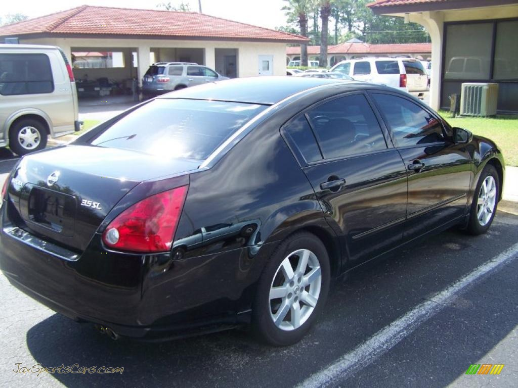 2005 nissan maxima 3 5 sl in onyx black photo 6 856998. Black Bedroom Furniture Sets. Home Design Ideas