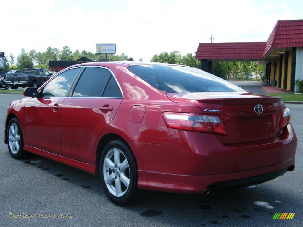 2007 toyota camry se v6 in barcelona red metallic photo 3 047882 jax sports cars cars for. Black Bedroom Furniture Sets. Home Design Ideas