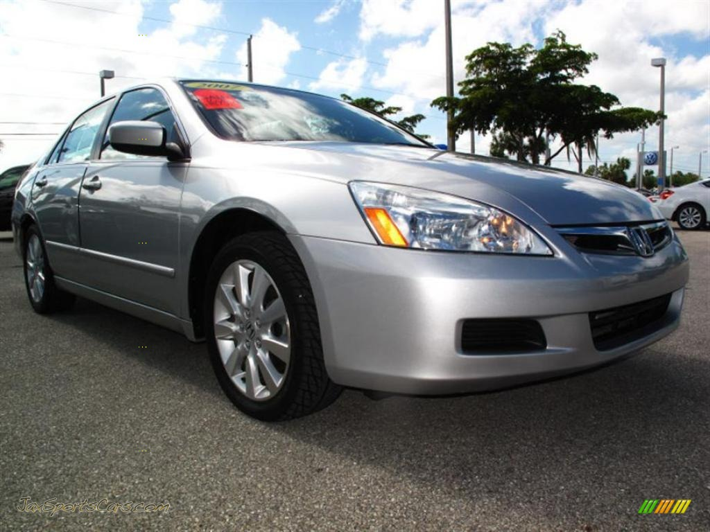 2007 Honda Accord EX-L V6 Sedan in Alabaster Silver Metallic - 049007 | Jax Sports Cars - Cars ...