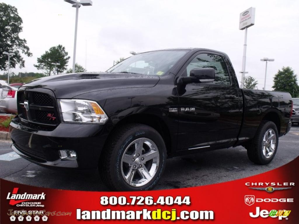 2010 dodge ram 1500 r t regular cab in brilliant black crystal pearl 156957 jax sports cars. Black Bedroom Furniture Sets. Home Design Ideas