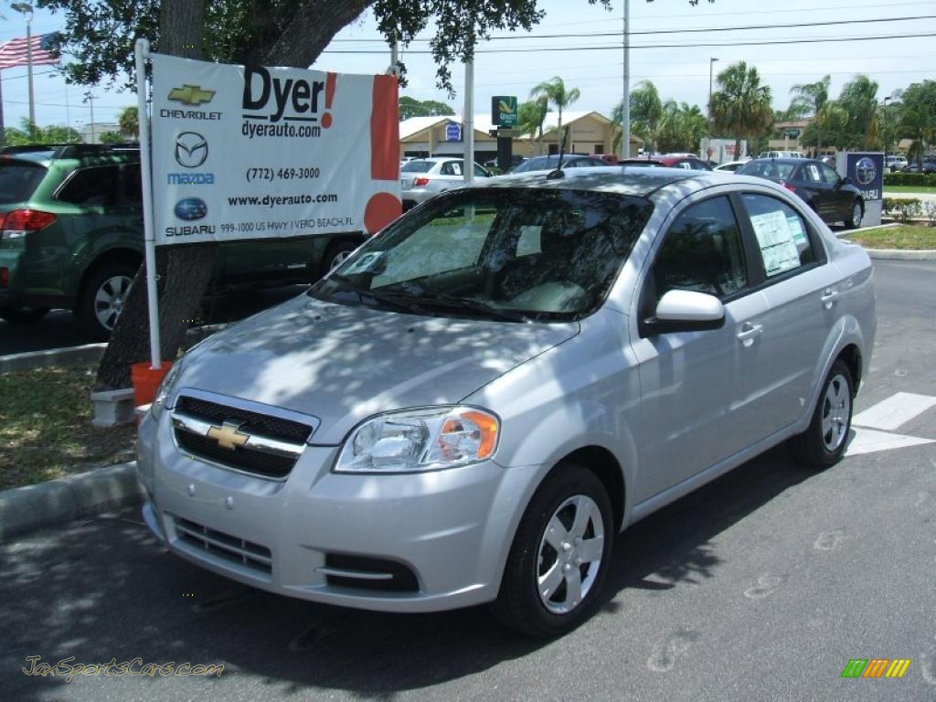 2010 chevrolet aveo lt sedan in cosmic silver 119666 jax sports cars cars for sale in florida. Black Bedroom Furniture Sets. Home Design Ideas