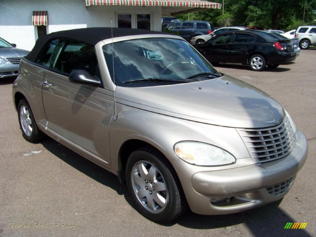 2005 chrysler pt cruiser touring turbo convertible in linen gold metallic pearl 286821 jax. Black Bedroom Furniture Sets. Home Design Ideas