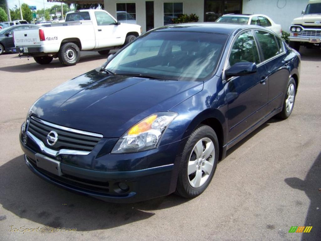 2007 nissan altima 2 5 s in majestic blue metallic 119635 jax sports cars cars for sale in. Black Bedroom Furniture Sets. Home Design Ideas