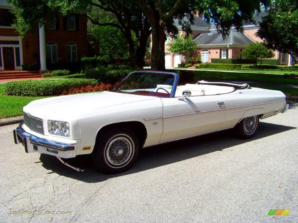 1975 Chevrolet Caprice Classic Convertible In White Photo 14 115823 Jax Sports Cars Cars