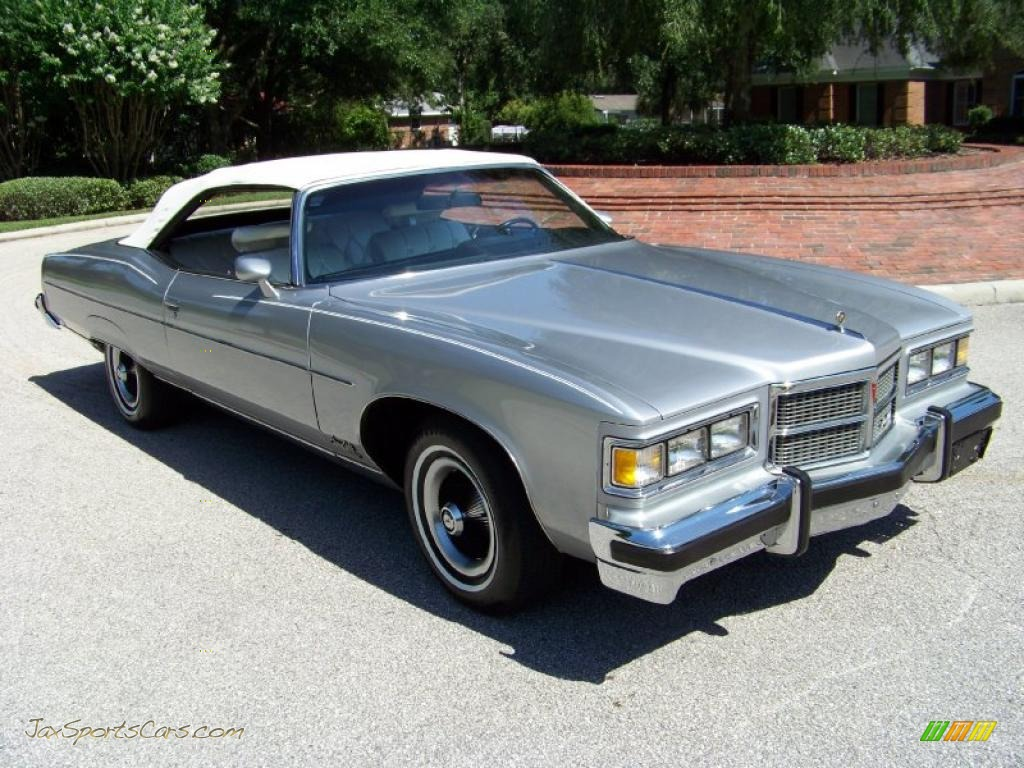 1975 Pontiac Bonneville Grand Ville Brougham Convertible In Sterling Silver Poly Photo 53