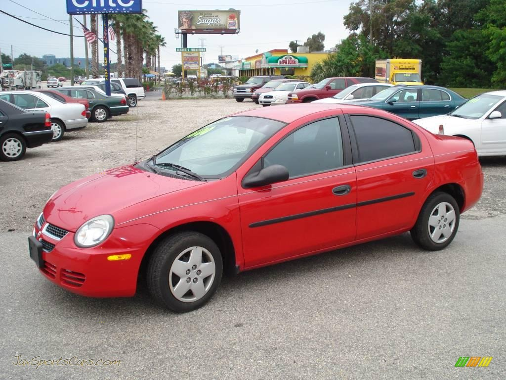 2003 Dodge Neon Se In Flame Red 232237 Jax Sports Cars