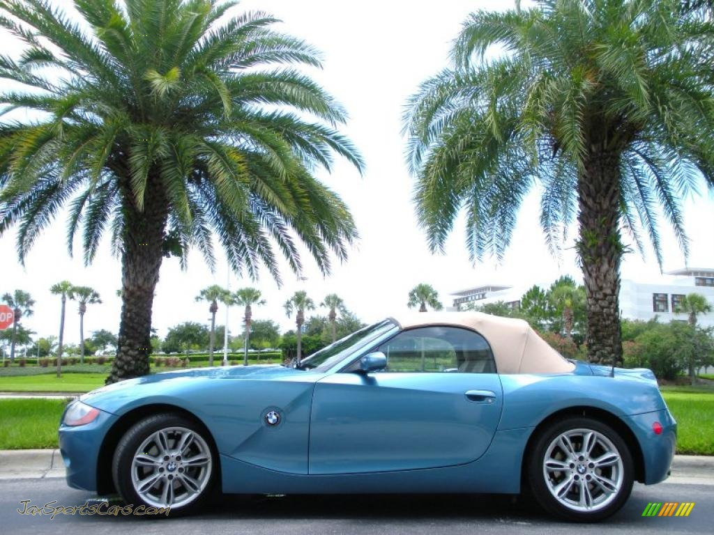 2003 Bmw Z4 3 0i Roadster In Maldives Blue Metallic U05241 Jax Sports Cars Cars For Sale