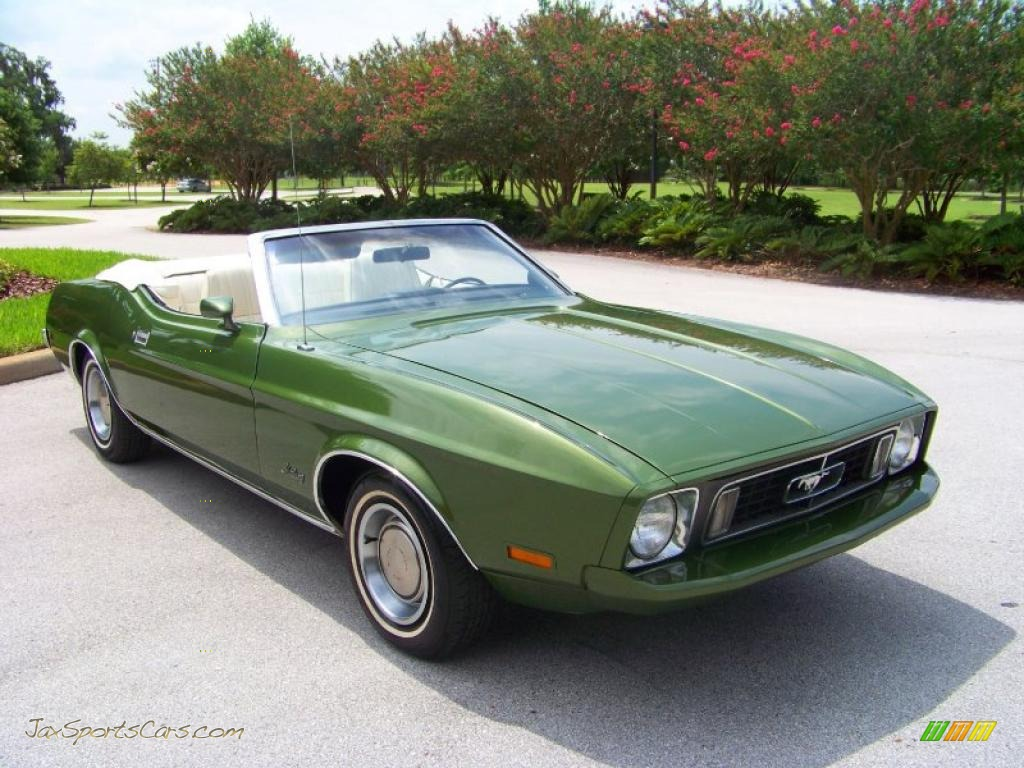 1973 Ford Mustang Convertible In Medium Green Metallic