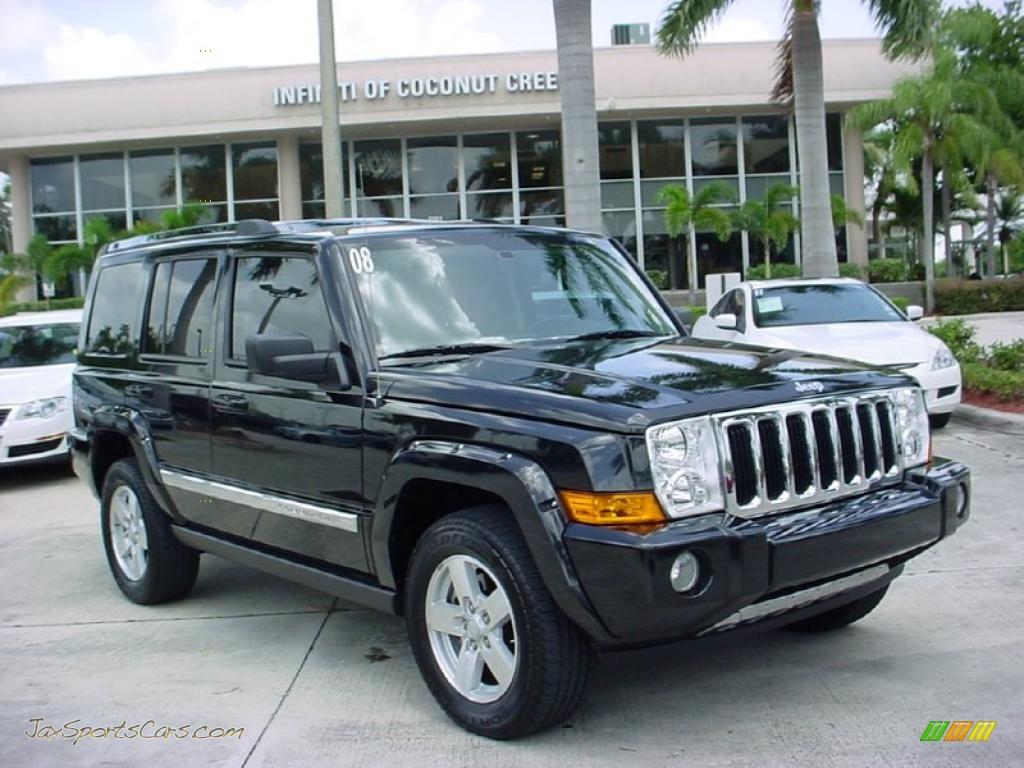 2008 jeep commander limited in brilliant black crystal pearl 200945 jax sports cars cars